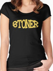 Stoner Weed Women's Fitted Scoop T-Shirt