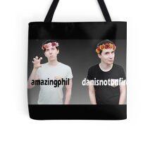 Dan and Phil Flower Crown Gradient Tote Bag