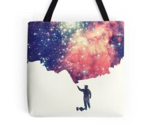 Painting the universe (Colorful Negative Space Art) Tote Bag