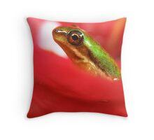 Tiny froglet Throw Pillow