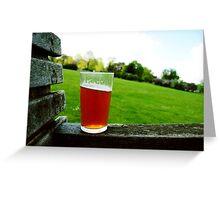 Summer Beer. Greeting Card