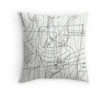 Abstract in Line Throw Pillow