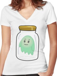 Ghost In A Jar Women's Fitted V-Neck T-Shirt