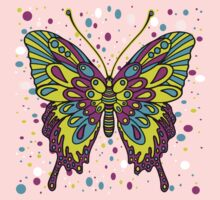 Original Colourful Butterfly One Piece - Long Sleeve