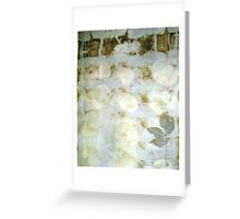 Eco Print Rose leaf Greeting Card