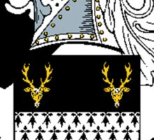 Coat of arms (family crest) for last-name or surname Parkes II . Heraldry banner for your name. Sticker
