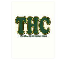 THC Cannabis Art Print