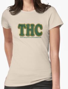 THC Cannabis Womens Fitted T-Shirt