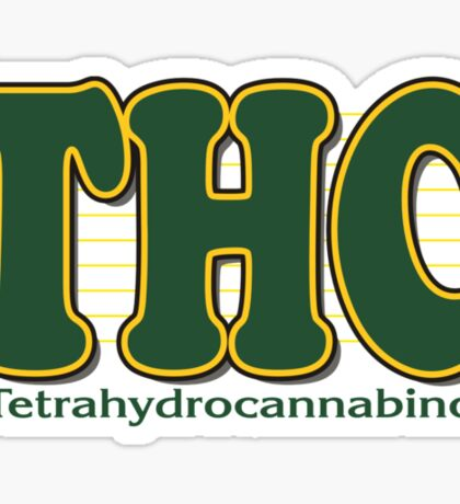 THC Cannabis Sticker