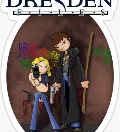 Dresden Files - Harry and Murph Sticker