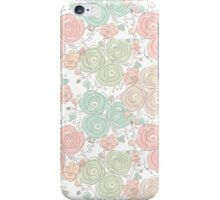 Floral seamless pattern with blooming roses iPhone Case/Skin