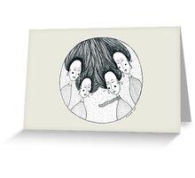Four Girls Greeting Card