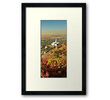 Bountiful LDS Temple - Fall Vertorama Framed Print
