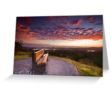 Sunrise Bench Greeting Card