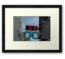 five ten Framed Print