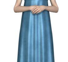 Regency Woman in Blue Dress Sticker