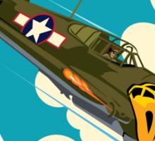 Aleutian Flying Tigers P-40  Sticker