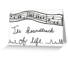 Life With Music Greeting Card