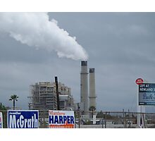 Politics & Pollution - Huntington Beach California Photographic Print