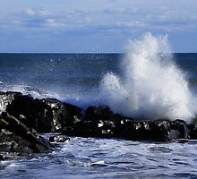 High Tide, High Winds, High Waves by MaryinMaine