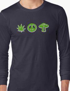 Marijuana Peace Mushrooms Long Sleeve T-Shirt