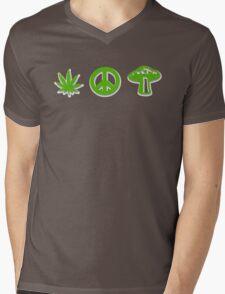 Marijuana Peace Mushrooms Mens V-Neck T-Shirt