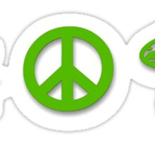 Marijuana Peace Mushrooms Sticker