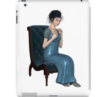 Regency Woman in Blue Dress Sitting on a Chair iPad Case/Skin