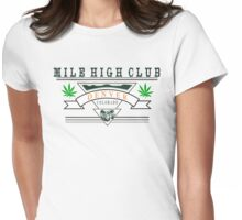 "Marijuana Denver ""Mile High Club"" Womens Fitted T-Shirt"