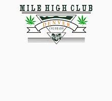 "Marijuana Denver ""Mile High Club"" Womens Fitted T-Shirt"