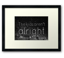 FOB - The Kids Aren't Alright Framed Print