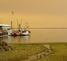 Smokey Skies Over the Harbor by aubrey-pitts