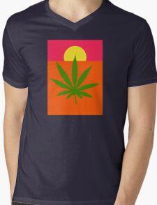 Marijuana Mens V-Neck T-Shirt