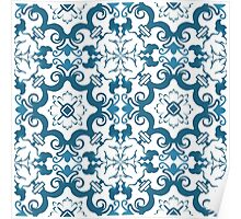 Seamless colourful ornament tiles Poster