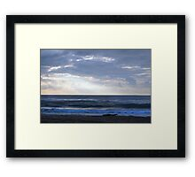 I saw Heaven and then I swam in it... Framed Print