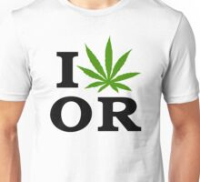 I Love Marijuana Oregon Cannabis Weed Unisex T-Shirt