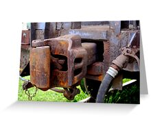 Rusty Coupler Greeting Card