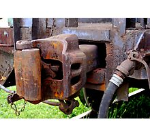 Rusty Coupler Photographic Print