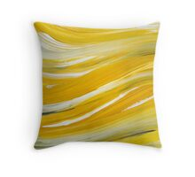 Gold Waves Abstract Painting Throw Pillow