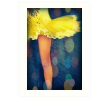 Party In A Yellow Dress Art Print