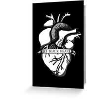 Jet Black Heart  Greeting Card
