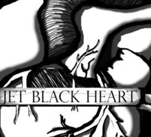 Jet Black Heart  Sticker