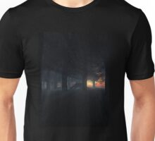Dragon in a Misty Sunset Forest Unisex T-Shirt