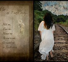 Watch Me As I Walk Away-Diptych & Poem by michellerena