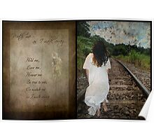 Watch Me As I Walk Away-Diptych & Poem Poster