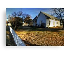 The Really Significant Historical Little House in Cross Plains, Texas Canvas Print