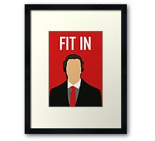 Fit In Framed Print