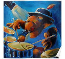 and Wombat plays the drums! Poster