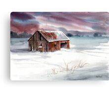 Rusty Roof Winter Barn Canvas Print
