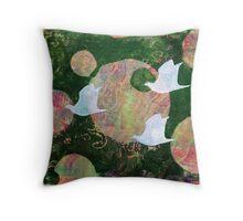Three Cosmic Birds Digitally Altered Version of Original Work 11 Throw Pillow